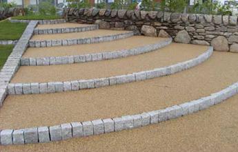 Resin-bonded steps