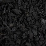 Black Rubber Landscape Chippings 1