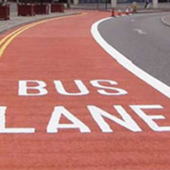 Bus Lane using Thermoplastic Road Markings
