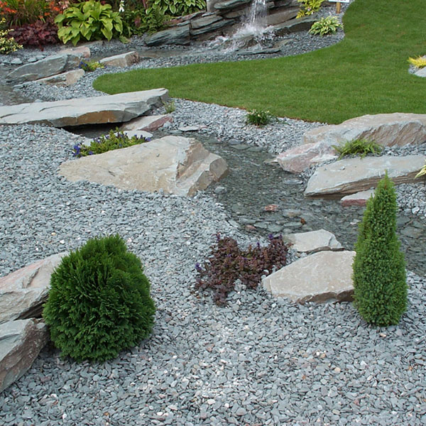 Green slate chippings 20mm landscaping specialised for Garden 50 designs to help you destress