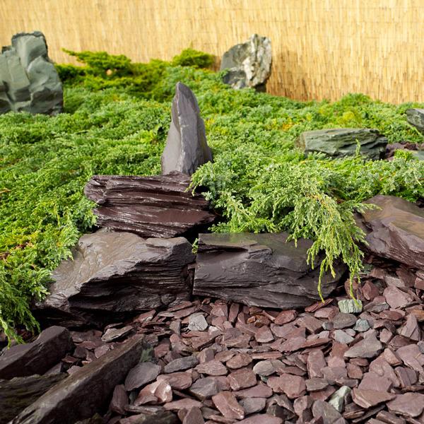 Blue slate rockery 200 350mm landscaping specialised for Blue slate garden designs