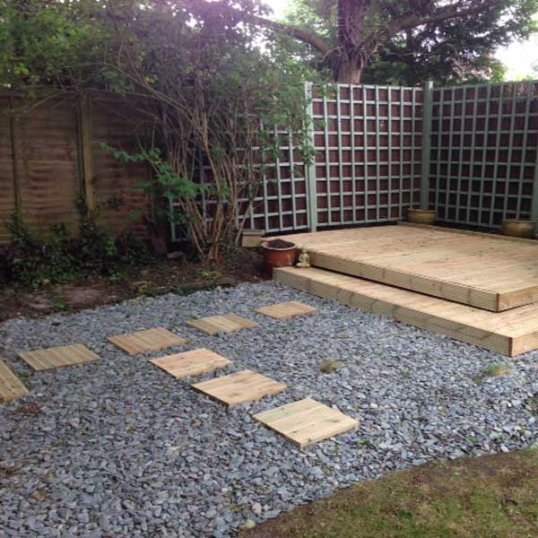 Blue slate chippings 40mm landscaping specialised for Blue slate garden designs