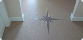 Internal hallway with design