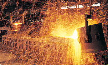 Iron is extracted from ore by heating in a furnace