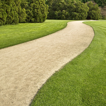 Decorative landscape information applying self binding Types of pathways in landscaping
