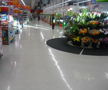 Tiled Terrazzo flooring, very popular in SuperMarkets